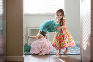 Girls in dresses with Easter baskets - CAIF14063