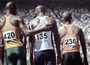 Runner comforting teammate - CAIF14174