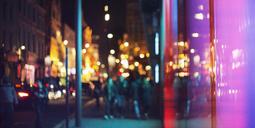 Street lights of urban city street at night - CAIF14273