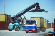 Crane near cargo container on truck - CAIF15080