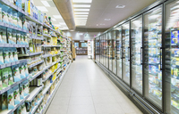 Empty aisle in grocery store - CAIF15561