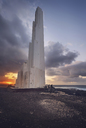 Spain, Canary Islands, Tenerife, Sunset at Faro de Punta del Hidalgo - DHCF00182