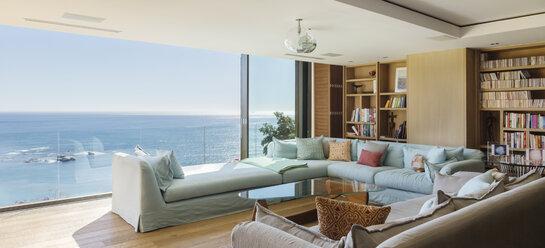 Living room overlooking ocean - CAIF17123