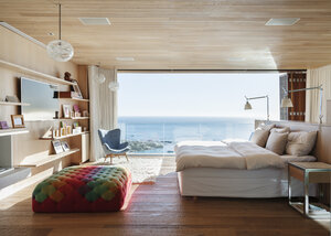 Sunny bedroom with ocean view - CAIF17126