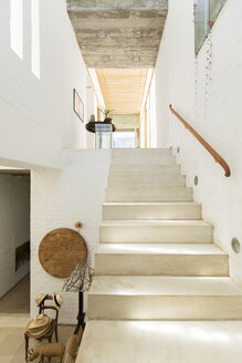 Staircase in rustic house - CAIF17534