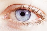 Extreme close up of blue eye - CAIF17708