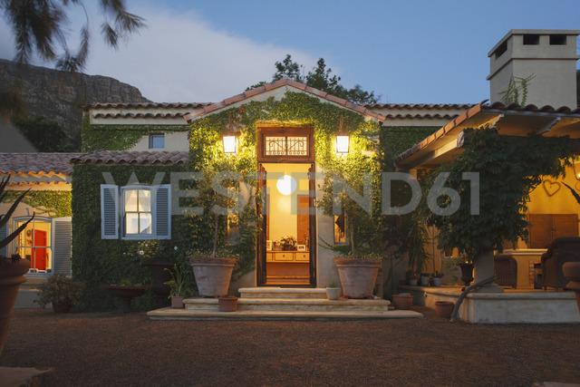 Luxury villa illuminated at night - CAIF17852