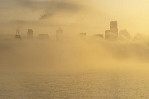 Fog over city skyline - CAIF18092