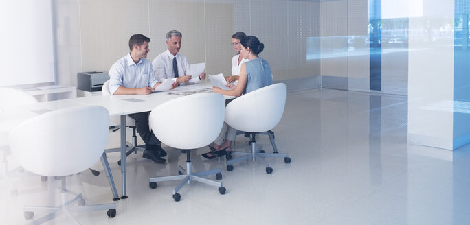 Business people meeting at conference table - CAIF18260