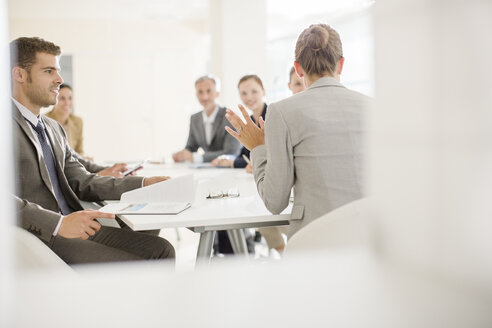 Business people meeting in conference room - CAIF18263