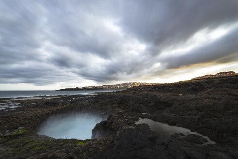 Spain, Canary Islands, Gran Canaria, La Garita, El Bufadero geological formation - STCF00398