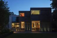 Modern house illuminated at dusk - CAIF18951