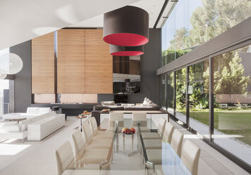 Modern dining room and open floor plan - CAIF18981