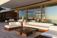 Sofas and table on modern balcony - CAIF19017