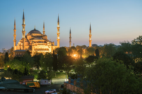 Turkey, Istanbul, blue mosque at blue hour - TAMF00969