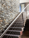 Stone wall and modern staircase - CAIF19875