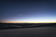 Scenic view of great sand dunes national park during sunset - CAVF15141
