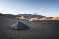 Tent of desert against clear sky - CAVF15144