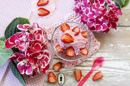 Nicecream, made of strawberry and banana, sugarfree - EVGF03323