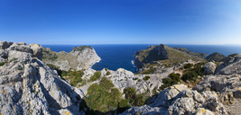 Spain, Balearic Islands, Mallorca, Panoramic view of Cap de Formentor - WWF04209