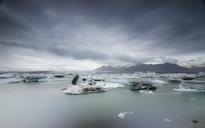Iceland, South of Iceland, Joekulsarlon glacier lake, icebergs - STCF00527