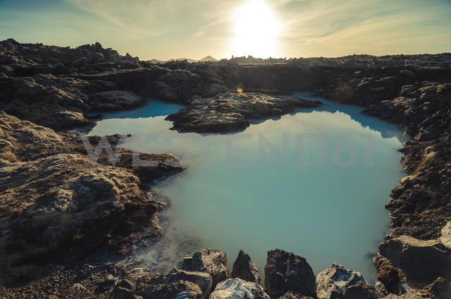 Iceland, artificial lake near geothermal area Blue Lagoon - STCF00548