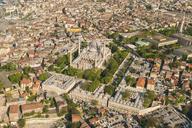 Turkey, Istanbul, Aerial view of Suleymaniye mosque - TAMF00983