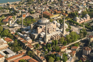 Turkey, Istanbul, Aerial view of Hagia Sofia Mosque - TAMF00989