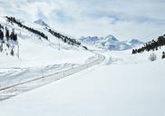 Austria, Tyrol, Sellrain Valley, Kuehtai, mountain road in winter - CVF00317