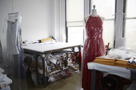 Mannequins by tables in workshop - CAVF27487