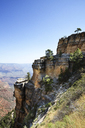 Cliff at Grand Canyon National Park against clear sky - CAVF27549