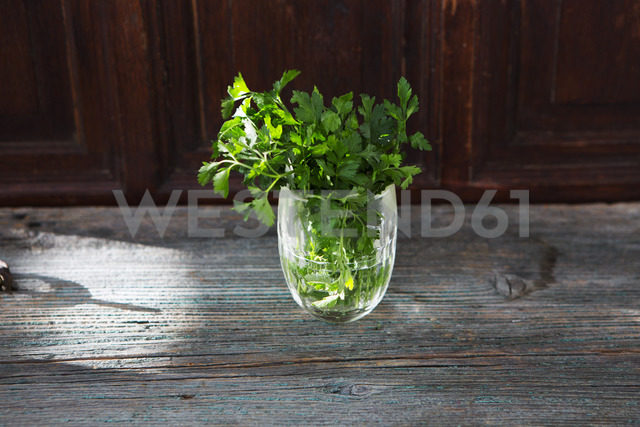 Fresh parsley in glass of water - KSWF01873
