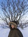 Portrait of woman in winter coat - FOLF00150