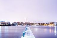Illuminated pier over lake at dusk - FOLF00156