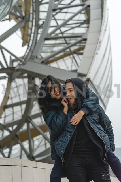 France, Paris, happy young couple - AFVF00367