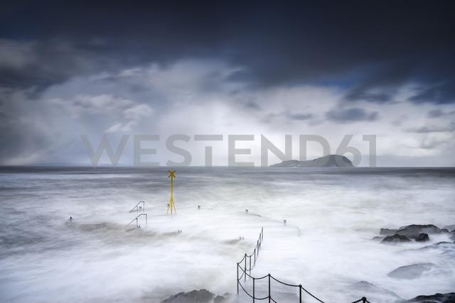 United Kingdom, Scotland, East Lothian, North Berwick, east coast, winter storm - SMAF00984