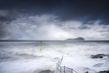 United Kingdom, Scotland, East Lothian, North Berwick, east coast, winter storm - SMAF00984