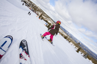 Girl learning how to ski in Trysil, Norway - FOLF01338