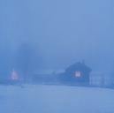 Farm buildings at winter night - FOLF02057
