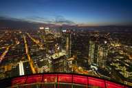 Germany, Hesse, Frankfurt, View from Maintower, city view, blue hour - WIF03490