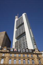 Germany, Hesse, Frankfurt, Kaiserplatz, Commerzbank Tower, worm's eye view - WIF03493