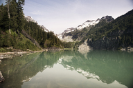 Idyllic view of rocky mountains by Blanca Lake - CAVF30068