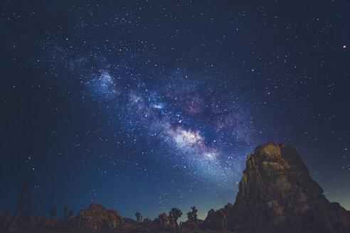 Milky Way above mountain peaks in Joshua Tree National Park - FOLF03631