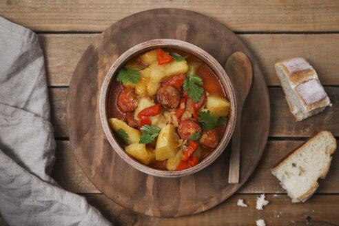 Riojan cuisine, stew with potatoes and chorizo - RTBF01112