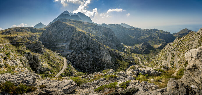 Winding road in mountains at Mallorca - FOLF04363