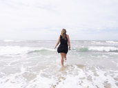 Woman wading in sea in Israel - FOLF05305