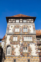 Germany, Baden-Wuerttemberg, Constance, Middle Ages tower house Zum Goldenen Loewen - WDF04550