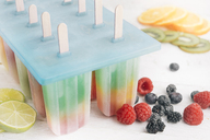 Different homemade ice cream made of fruits - SKCF00366