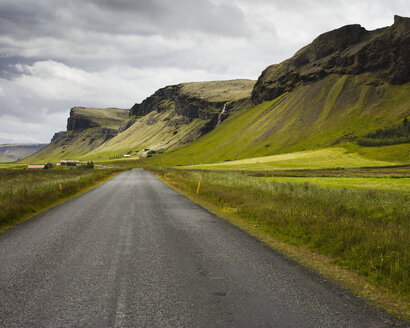 Road passing by Foss a Sidu waterfall in Iceland - FOLF05870