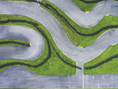 Aerial view of go-kart track - MMA00341